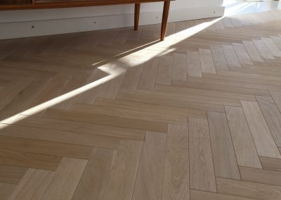 Natural Raw Herringbone Parquet