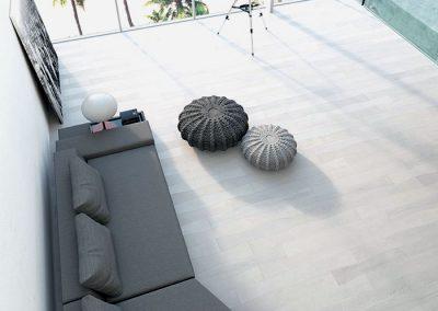Wave Parquet Oak Flooring – White, Black and Grey