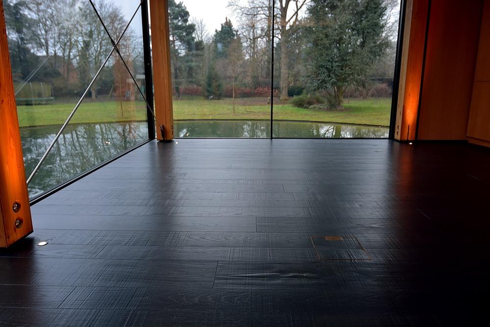 Unusual Unique Black Oak Planks