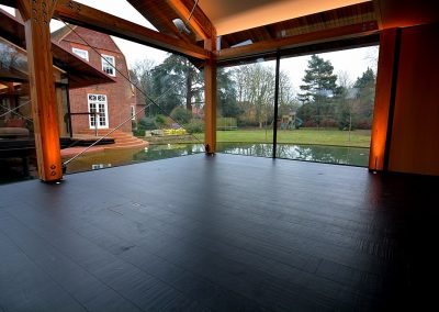 Black Charcoal Saw Marked Distressed Oak Flooring & Unusual Floors - Hicraft