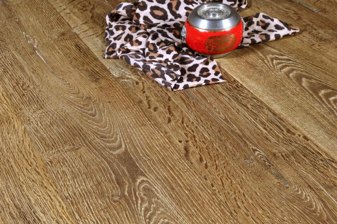 White grained oak flooring