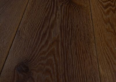 Aged and distressed golden oak flooring