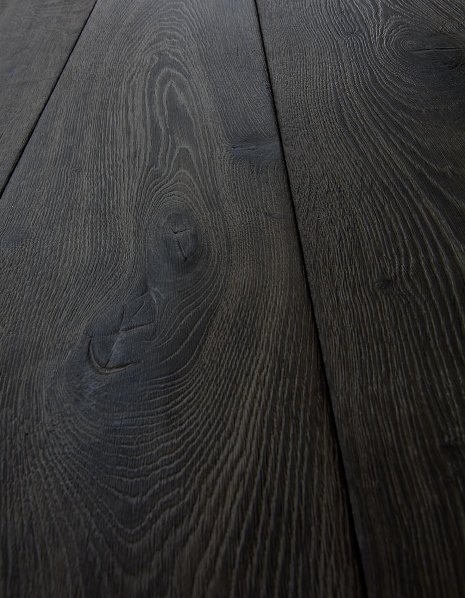 Dark Distressed Brushed Textured Oak Planks