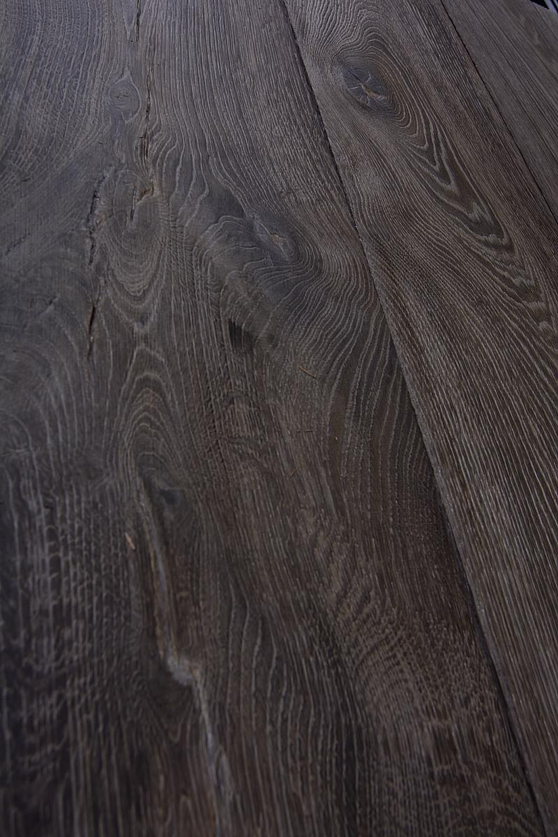 Dark Oak Brushed Grey Distressed Wooden Flooring
