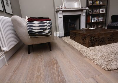 Lightly Smoked White Washed Oak Floor