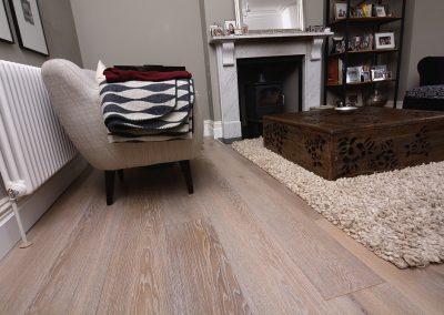 Lightly Smoked White Washed Oak Floor