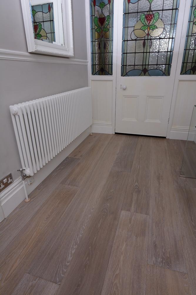 Fumed Grey Whitewashed Oak Flooring