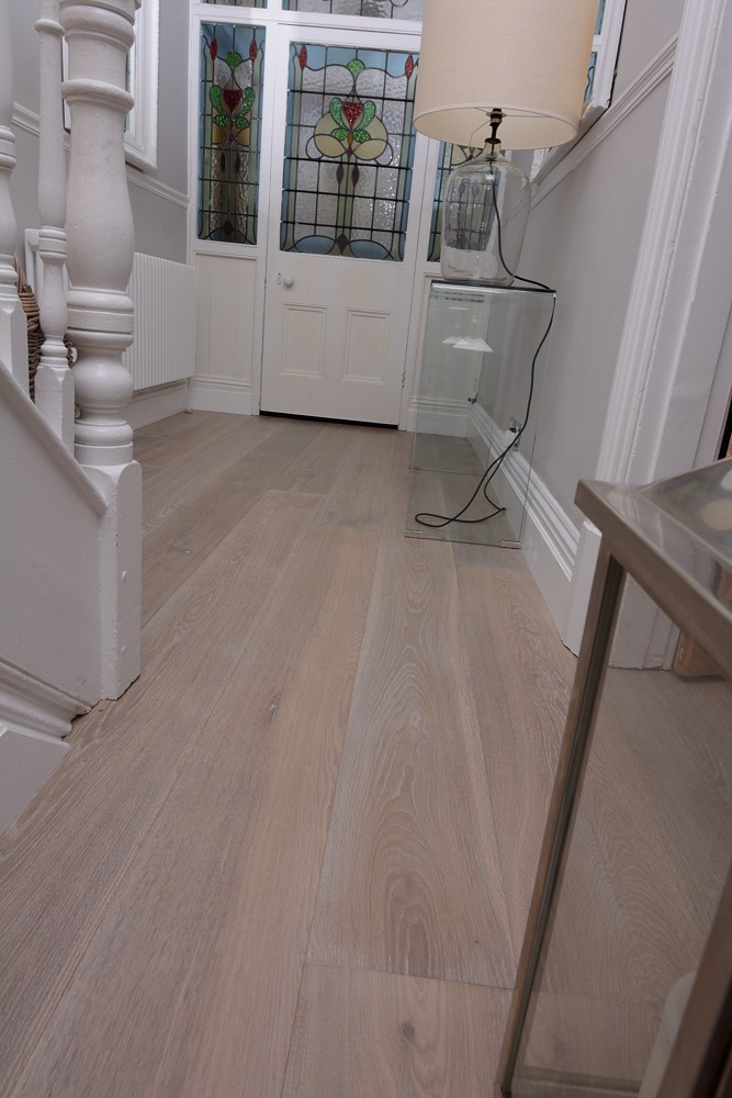 HC3012 Limed and white washed lightly fumed oak flooring