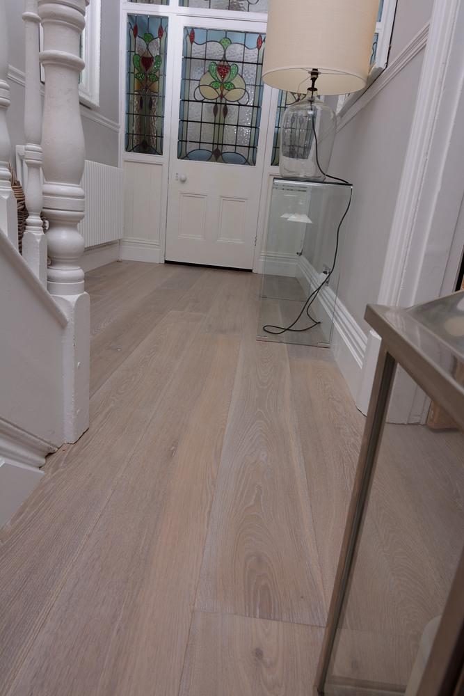 Limed White Washed Lightly Fumed Wooden Floor