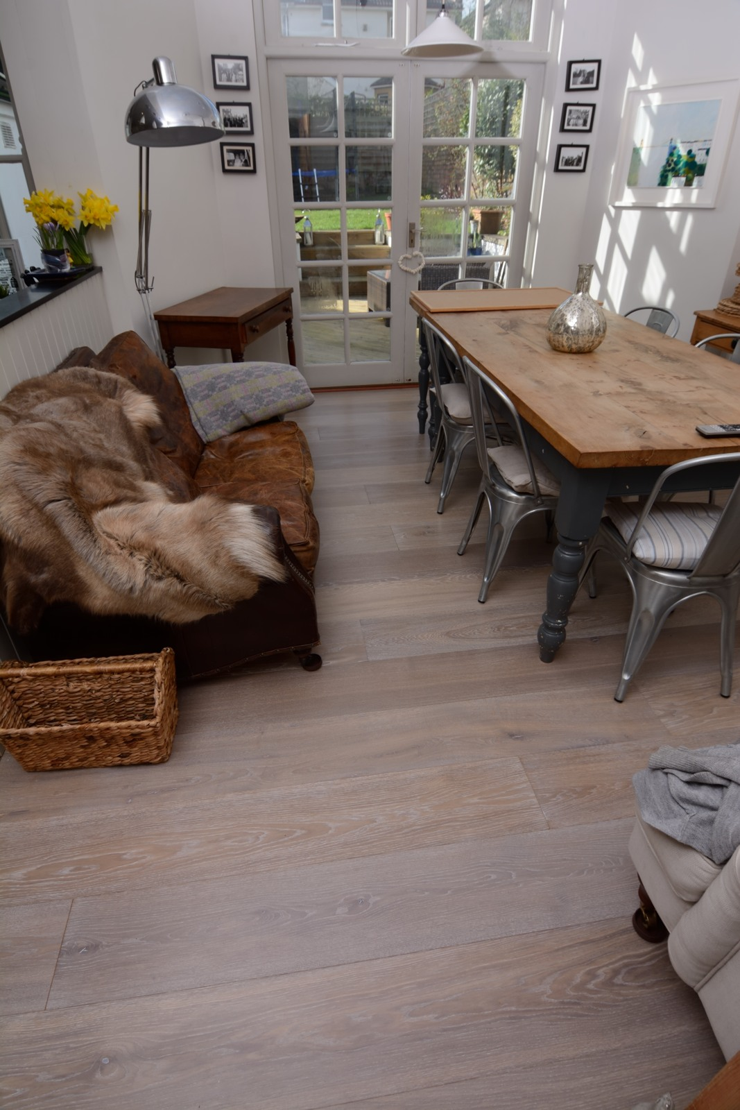 Smoked and White Washed Grey Oak Planks