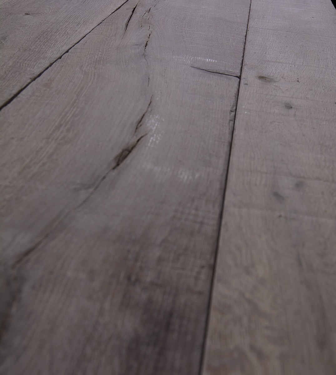 Traditional Distressed Pale Wood Floor