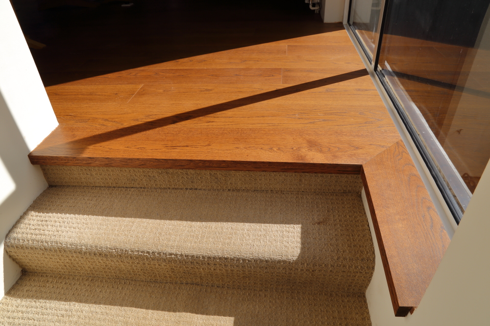 Bespoke Wooden Flooring with matching stair nosing to complete the look