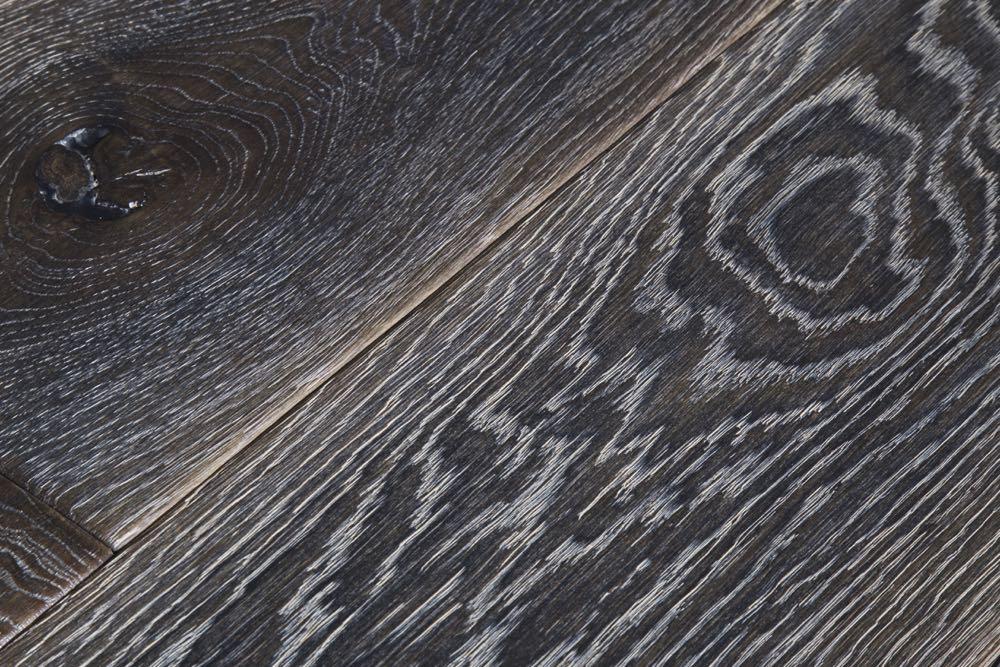 Distressed Dark Oak Wooden Flooring