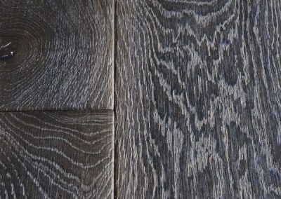 Distressed, Dark Oak Flooring