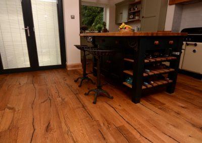 Heavily Distressed, Rustic Oak Flooring