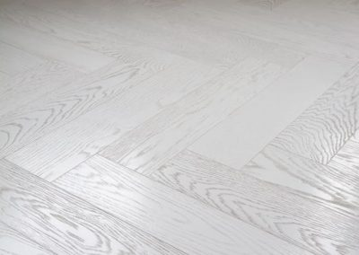 Textured White Italian Herringbone Flooring