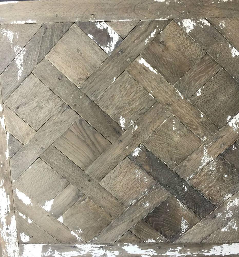 Distressed Versailles Panel Flooring - Painted and worn wooden floors