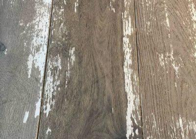 Distressed Wood Flooring – Painted, Worn Floorboards