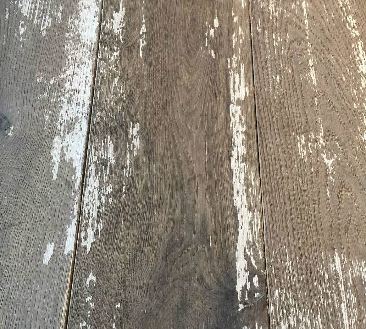 Distressed Wood Flooring – Painted, Worn Floorboards