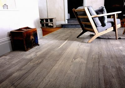 Rustic Wooden Flooring – Deeply Textured Grey Wood Floor