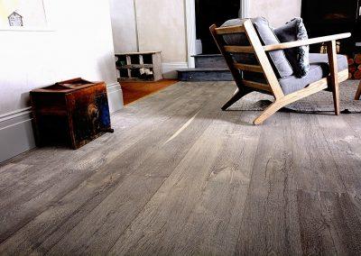 Rustic Wooden Flooring – Deeply Textured Grey Wood Floor