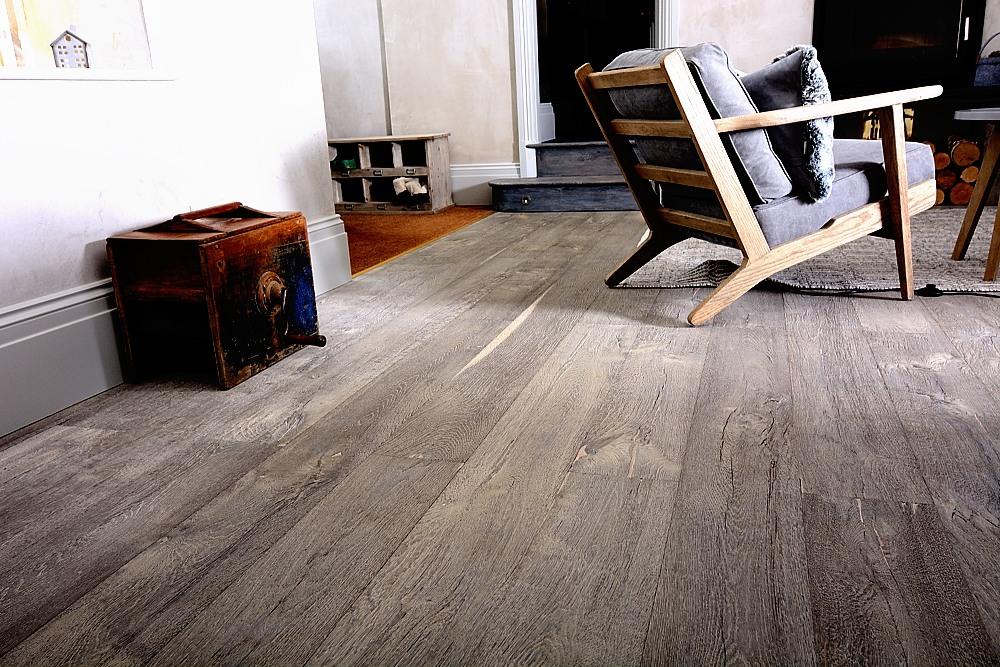 Rustic Wooden Flooring - Distressed Grey Wooden Floor