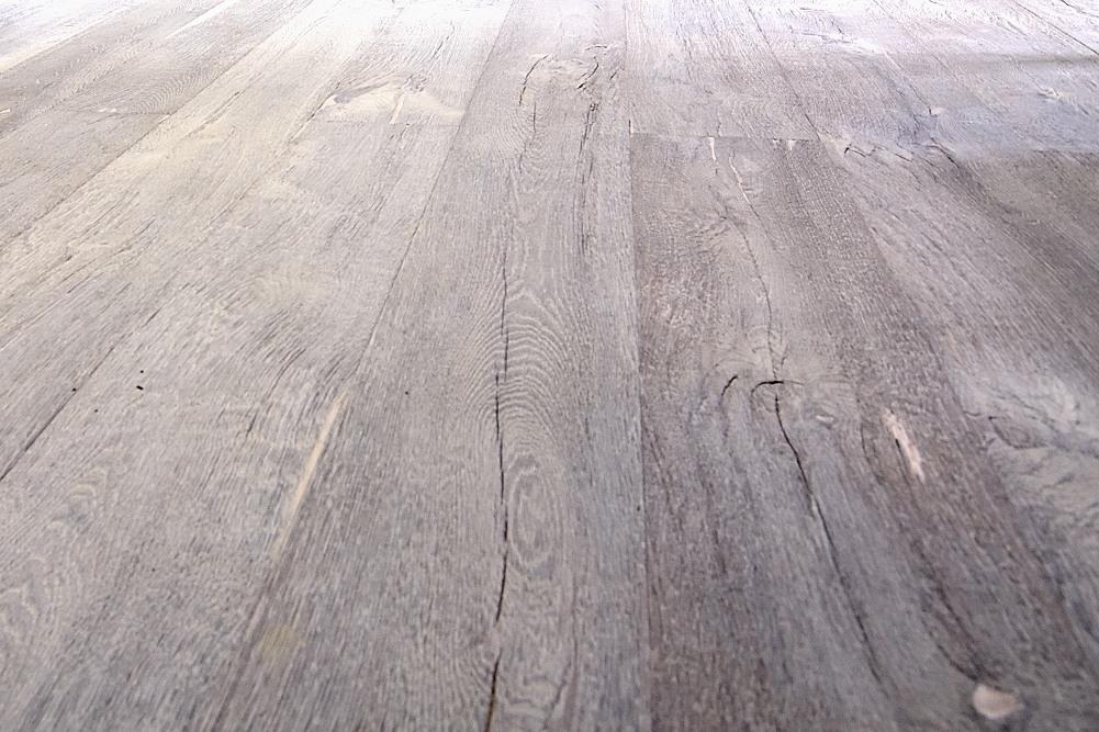 Rustic Wooden Flooring Deeply Textured Grey Wood Floor